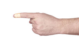 Hands with band-aid adesive  plaster Royalty Free Stock Photography