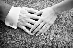 Hands and bands Royalty Free Stock Images