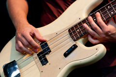 Hands of bass player Royalty Free Stock Images