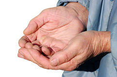 Hands of a beggar Stock Photography