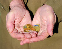 Hands of a beggar Stock Image
