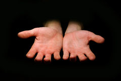 Hands Begging Alms Royalty Free Stock Photography