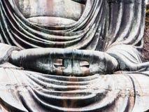Hands of big Buddha Stock Photos