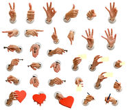 Hands big collection Royalty Free Stock Photography