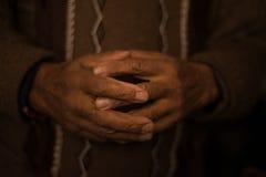 Hands of a  Blacksmith Royalty Free Stock Photos