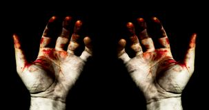 Hands in blood Stock Photography