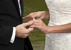 Hands of Bridal Couple Royalty Free Stock Images