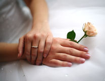 Hands of the bride Royalty Free Stock Photography