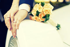 Hands of bride Stock Photography