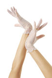 Hands of bride Royalty Free Stock Photos
