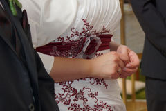 Hands of bride and bridegroom Stock Photography