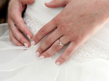 Hands of a bride close-up Royalty Free Stock Images