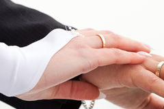 Hands of the bride and groom Royalty Free Stock Photography
