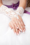 Hands of the bride with ornaments Stock Photography
