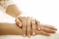 Hands of the bride. Royalty Free Stock Photos