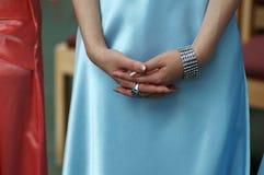 Hands of bridesmaid Stock Photos