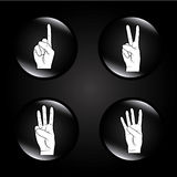 Hands bubbles. Over black background vector illustration Royalty Free Stock Photography