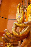 Hands of buddha in kanchanaburi Royalty Free Stock Photography