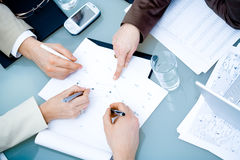 Hands on Business Meeting Royalty Free Stock Photos