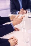 Hands on business meeting at office Royalty Free Stock Photography