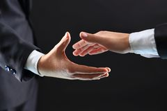 Hands of business partners Stock Photo