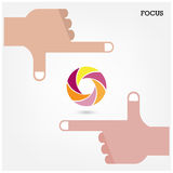 Hands and business vision concept. Stock Photography