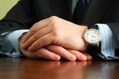 Hands of businessman Royalty Free Stock Photography