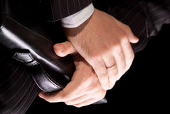 The hands of a businessman Royalty Free Stock Photo