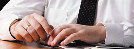 Hands of businessman Royalty Free Stock Images