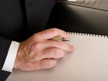 Hands - businessman writing Royalty Free Stock Photography