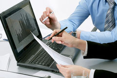 Hands of businesspeople Stock Images