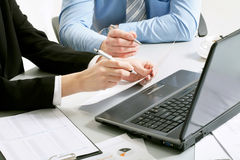 Hands of businesspeople Royalty Free Stock Photo