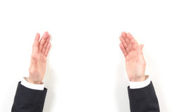 Hands businesswoman and gestures Stock Image