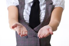 Hands of Businesswoman Royalty Free Stock Photo