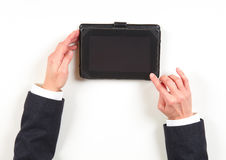 Hands businesswoman and tablet Royalty Free Stock Photography