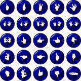 Hands button set vector symbols Stock Image