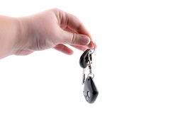 Hands and car key Royalty Free Stock Photo