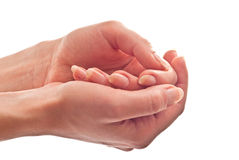 Hands care Stock Photography