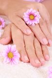 Hands care Stock Photos