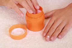 Hands care Stock Photo