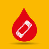 Hands care health first aid cure band icon. Illustration Stock Image