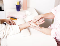Hands care Stock Images
