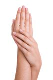 Hands caressing royalty free stock images