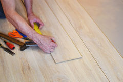 Hands of a carpenter Royalty Free Stock Photography