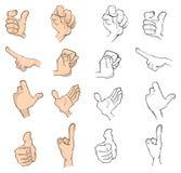 Hands cartoon Royalty Free Stock Photo