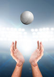 Hands Catching Ball Royalty Free Stock Images