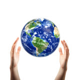 Hands catching earth Royalty Free Stock Photos