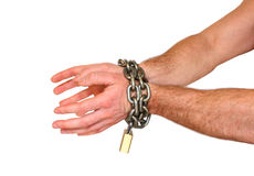 Hands with chain Royalty Free Stock Images