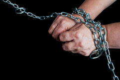 Hands in chain Stock Photos