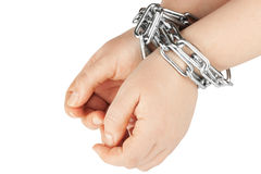 Hands  in a chain Stock Photo